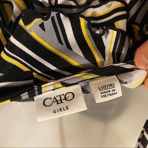 Cato Shirts & Tops - CATO Girls Black and Yellow Top